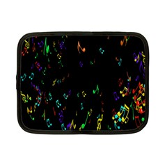 Colorful Music Notes Rainbow Netbook Case (small)