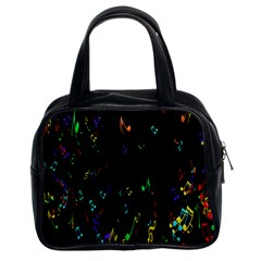Colorful Music Notes Rainbow Classic Handbags (2 Sides)