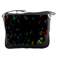 Colorful Music Notes Rainbow Messenger Bags
