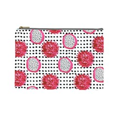 Fruit Patterns Bouffants Broken Hearts Dragon Polka Dots Red Black Cosmetic Bag (large)