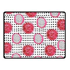 Fruit Patterns Bouffants Broken Hearts Dragon Polka Dots Red Black Double Sided Fleece Blanket (small)