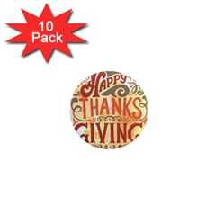 Happy Thanksgiving Sign 1  Mini Magnet (10 Pack)