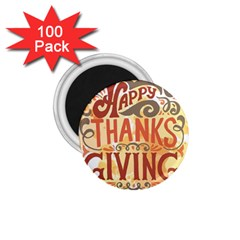 Happy Thanksgiving Sign 1 75  Magnets (100 Pack)