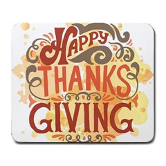 Happy Thanksgiving Sign Large Mousepads