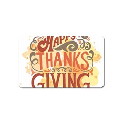 Happy Thanksgiving Sign Magnet (name Card)