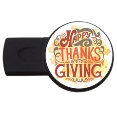 Happy Thanksgiving Sign Usb Flash Drive Round (2 Gb)