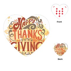 Happy Thanksgiving Sign Playing Cards (heart)