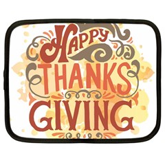 Happy Thanksgiving Sign Netbook Case (large)