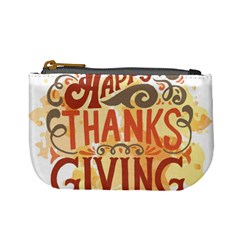 Happy Thanksgiving Sign Mini Coin Purses