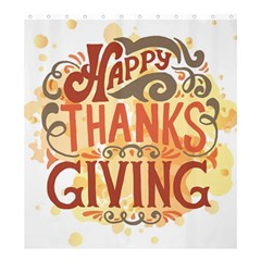 Happy Thanksgiving Sign Shower Curtain 66  X 72  (large)