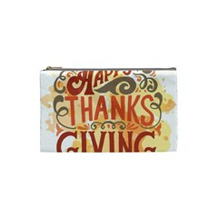Happy Thanksgiving Sign Cosmetic Bag (small)