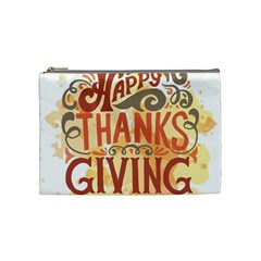 Happy Thanksgiving Sign Cosmetic Bag (medium)