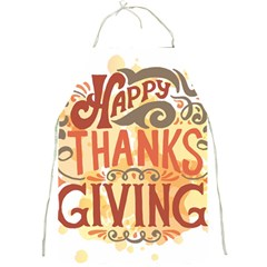 Happy Thanksgiving Sign Full Print Aprons