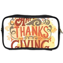Happy Thanksgiving Sign Toiletries Bags 2 Side