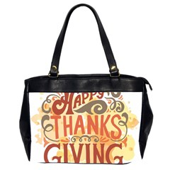 Happy Thanksgiving Sign Office Handbags (2 Sides)