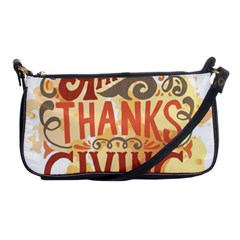 Happy Thanksgiving Sign Shoulder Clutch Bags