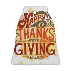 Happy Thanksgiving Sign Bell Ornament (two Sides)