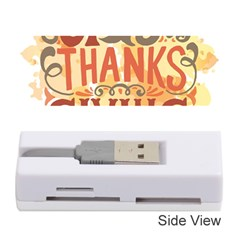 Happy Thanksgiving Sign Memory Card Reader (stick)