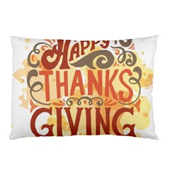 Happy Thanksgiving Sign Pillow Case (two Sides)