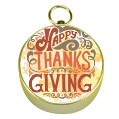 Happy Thanksgiving Sign Gold Compasses