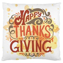 Happy Thanksgiving Sign Standard Flano Cushion Case (one Side)