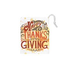Happy Thanksgiving Sign Drawstring Pouches (xs)