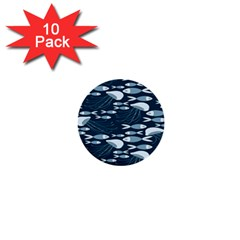Jellyfish Fish Cartoon Sea Seaworld 1  Mini Buttons (10 Pack)