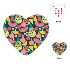 Fruit Pineapple Watermelon Orange Tomato Fruits Playing Cards (heart)