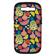 Fruit Pineapple Watermelon Orange Tomato Fruits Samsung Galaxy S Iii Hardshell Case (pc+silicone)