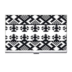 Model Traditional Draperie Line Black White Triangle Business Card Holders