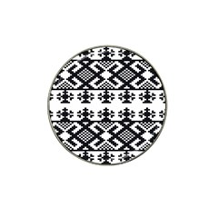 Model Traditional Draperie Line Black White Triangle Hat Clip Ball Marker (4 Pack)