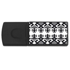 Model Traditional Draperie Line Black White Triangle Rectangular Usb Flash Drive