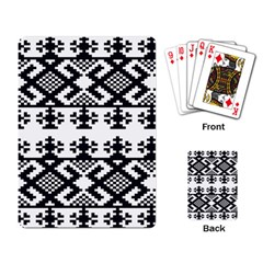 Model Traditional Draperie Line Black White Triangle Playing Card
