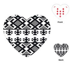 Model Traditional Draperie Line Black White Triangle Playing Cards (heart)
