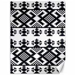 Model Traditional Draperie Line Black White Triangle Canvas 36  X 48