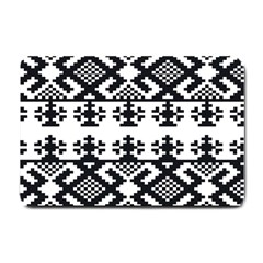 Model Traditional Draperie Line Black White Triangle Small Doormat