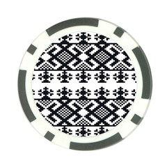 Model Traditional Draperie Line Black White Triangle Poker Chip Card Guard