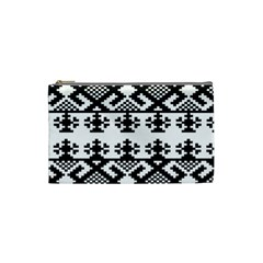 Model Traditional Draperie Line Black White Triangle Cosmetic Bag (small)