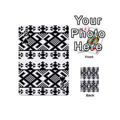 Model Traditional Draperie Line Black White Triangle Playing Cards 54 (mini)