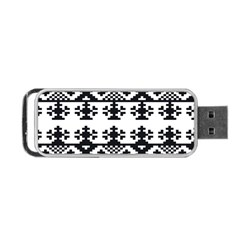 Model Traditional Draperie Line Black White Triangle Portable Usb Flash (one Side)