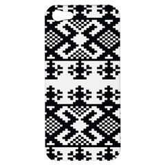 Model Traditional Draperie Line Black White Triangle Apple Iphone 5 Hardshell Case