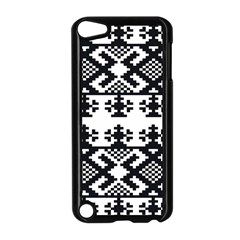 Model Traditional Draperie Line Black White Triangle Apple Ipod Touch 5 Case (black)