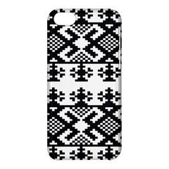 Model Traditional Draperie Line Black White Triangle Apple Iphone 5c Hardshell Case