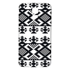 Model Traditional Draperie Line Black White Triangle Samsung Galaxy S5 Back Case (white)
