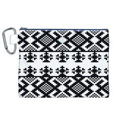 Model Traditional Draperie Line Black White Triangle Canvas Cosmetic Bag (xl)