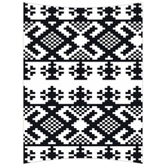 Model Traditional Draperie Line Black White Triangle Back Support Cushion