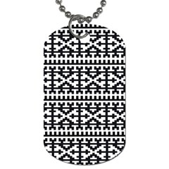 Model Traditional Draperie Line Black White Dog Tag (one Side)
