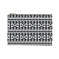 Model Traditional Draperie Line Black White Cosmetic Bag (large)