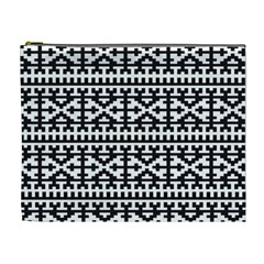 Model Traditional Draperie Line Black White Cosmetic Bag (xl)