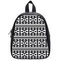 Model Traditional Draperie Line Black White School Bag (small)